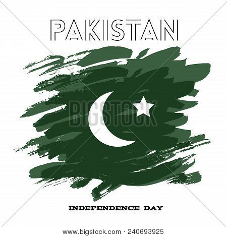 Pakistan- Independence Day.template Banner, Poster. Vector Illustration.