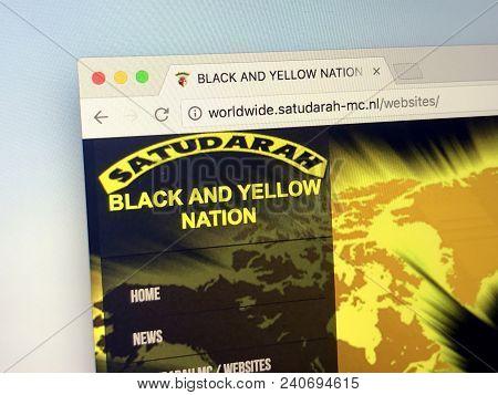 Amsterdam, Netherlands - May 15, 2018: Website Of One-percenter Motorcycle Club Satudarah Mc. Satuda