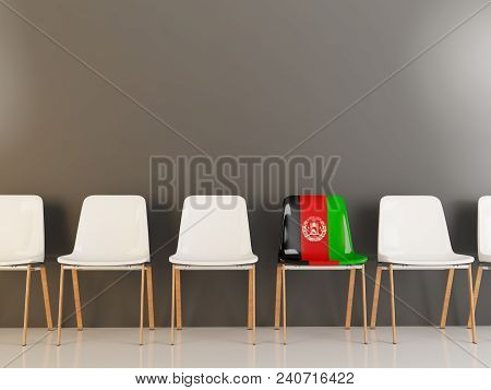 Chair With Flag Of Afghanistan
