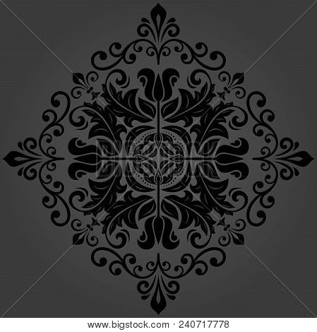 Oriental Vector Pattern With Arabesques And Floral Elements. Traditional Classic Ornament. Vintage P