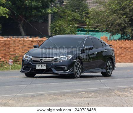 Chiang Mai, Thailand - April 20 2018: Private Sedan Car From Honda Automobil,tenth Generation Honda