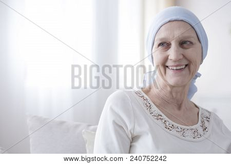 Happy And Hopeful Cancer Patient
