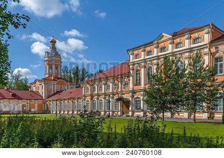 Alexander Nevsky Lavra (monastery) In Saint Petersburg, Russia. Metropolitan Corps