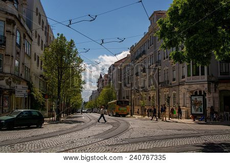 Lisbon Portugal. 14 May 2018. View Of Campo De Ourique In Lisbon.lisbon, Portugal. Photography By Ri