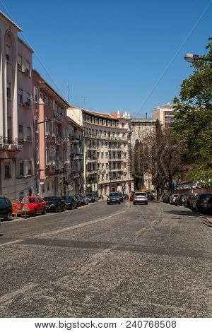 View Of Dom Pedro V Avenue In Lisbon, Portugal.