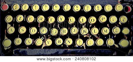 Very Antique Typewriter For Writers With Vintage Effect
