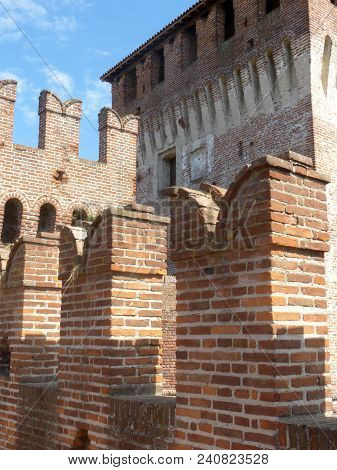 Castles Of Italy - View Of The Medieval Castle Of Soncino In The Province Of Cremona - Italy 63