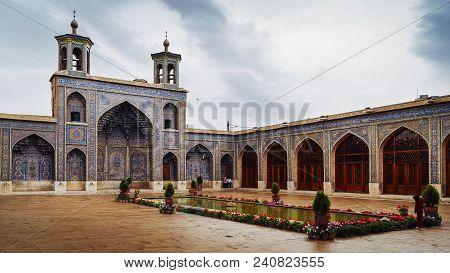 Isfahan, Iran - April 22, 2018: Historic Imam Mosque At Naghsh-e Jahan Square, Isfahan, Iran. Constr
