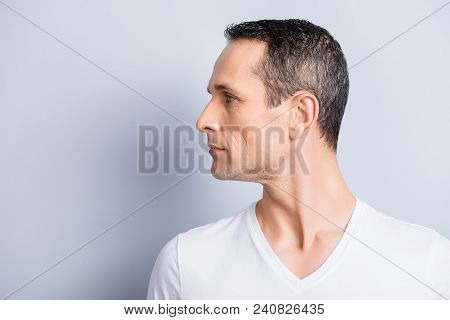 Portrait With Copy Space, Empty Place For Product, Advertisement Of Attractive, Stylish Man With Tur
