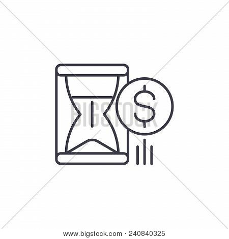 Yield Line Icon, Vector Illustration. Yield Linear Concept Sign.