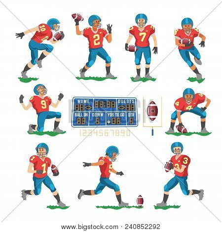 Soccer Vector Footballer Or Soccerplayer Character In Sportswear Playing With Soccerball On Football