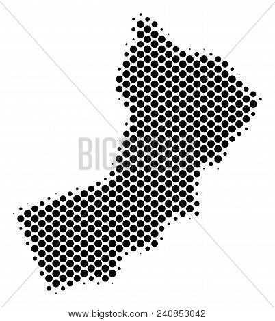 Abstract Yemen Map. Vector Halftone Geographical Plan. Cartographic Dotted Concept. Schematic Yemen