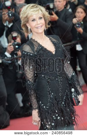 CANNES, FRANCE - MAY 13:  Jane Fonda attends the screening of 'Sink Or Swim (Le Grand Bain)' during the 71st annual Cannes Film Festival at Palais des Festivals on May 13, 2018 in Cannes, France.