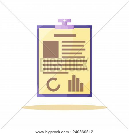 Yellow Information Paper Card Vector Illustration Of Data List Situated On Carton Substrate, Two Inf