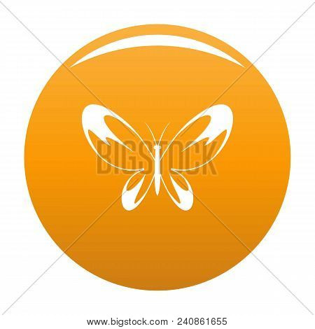 Wide Wing Butterfly Icon. Simple Illustration Of Wide Wing Butterfly Vector Icon For Any Design Oran