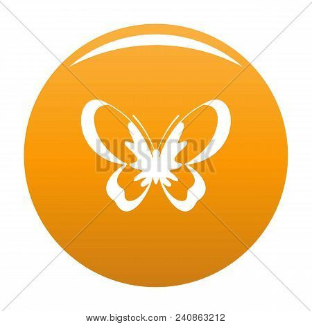 Unknown Butterfly Icon. Simple Illustration Of Unknown Butterfly Vector Icon For Any Design Orange