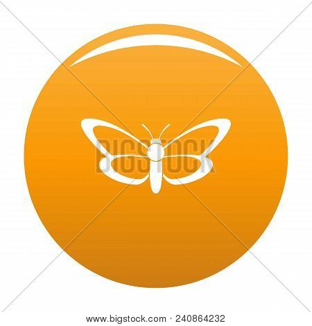 Nice Butterfly Icon. Simple Illustration Of Nice Butterfly Vector Icon For Any Design Orange