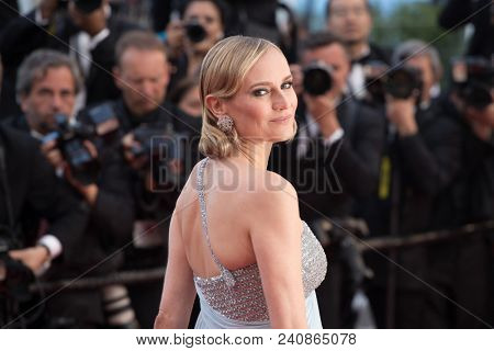 CANNES, FRANCE - MAY 13: Diane Kruger  attends the screening of 'Sink Or Swim (Le Grand Bain)' during the 71st annual Cannes Film Festival at Palais des Festivals on May 13, 2018 in Cannes, France.