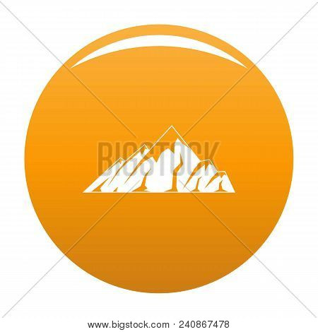 Alpine Mountain Icon. Simple Illustration Of Alpine Mountain Vector Icon For Any Design Orange