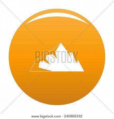 Exploration Of Mountain Icon. Simple Illustration Of Exploration Of Mountain Vector Icon For Any Des