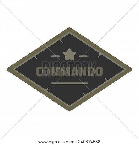 Commando Icon Logo. Flat Illustration Of Commando Vector Icon Logo For Web Design Isolated On White