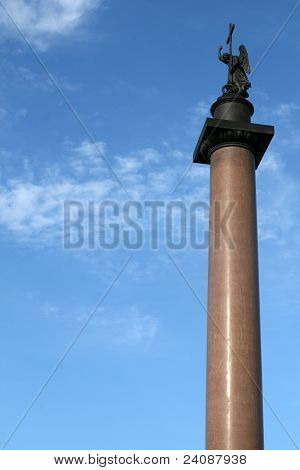 Alexander Column on Palace Square Saint Petersburg