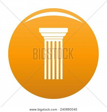 Triangular Column Icon. Simple Illustration Of Triangular Column Vector Icon For Any Design Orange