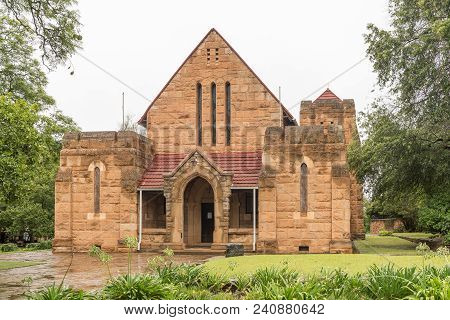 Greytown, South Africa - March 22, 2018: The Historic Sandstone St. James Anglican Church In Greytow