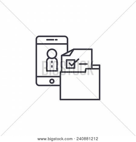 Personnel Selection Line Icon, Vector Illustration. Personnel Selection Linear Concept Sign.