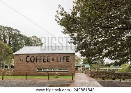 Nottingham Road, South Africa - March 22, 2018: The Coffee And Life Shopping Centre, In Nottingham R