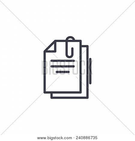 Primary Documents Line Icon, Vector Illustration. Primary Documents Linear Concept Sign.