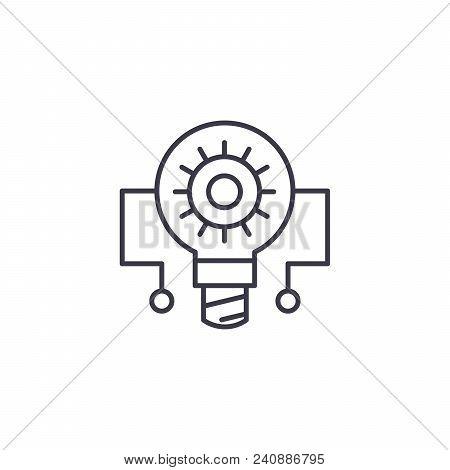 Principle Circuit Line Icon, Vector Illustration. Principle Circuit Linear Concept Sign.