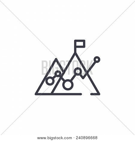 Revenues Line Icon, Vector Illustration. Revenues Linear Concept Sign.
