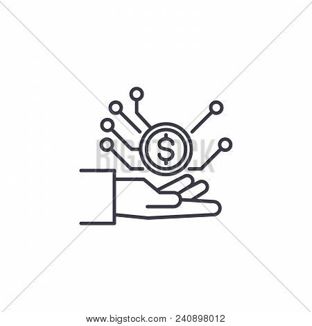 Sales Management Line Icon, Vector Illustration. Sales Management Linear Concept Sign.