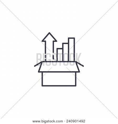 Sharp Rise Line Icon, Vector Illustration. Sharp Rise Linear Concept Sign.