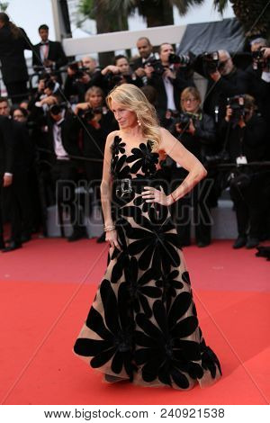 Estelle Lefebure attends the screening of 'Burning' during the 71st  Cannes Film Festival at Palais des Festivals on May 16, 2018 in Cannes, France.