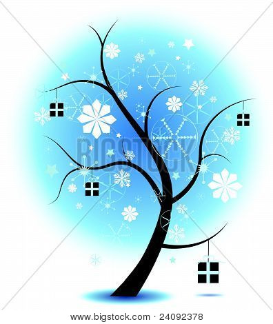 christmas Tree Stock Illustration