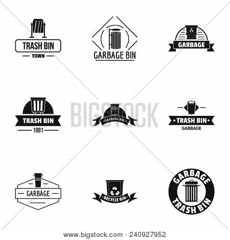 Trashcan Logo Set. Simple Set Of 9 Trashcan Vector Logo For Web Isolated On White Background