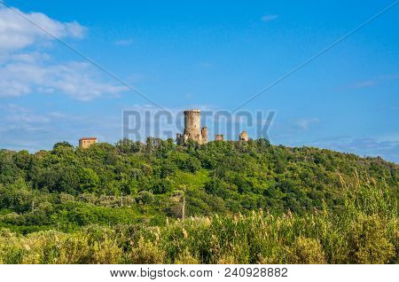 The Norman Tower And The Acropolis Of The Ancient Greek City Of Elea, Velia.