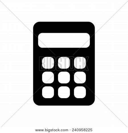 Calculator Icon Vector. Savings, Finances Sign Isolated On White, Economy Concept, Trendy Flat Style
