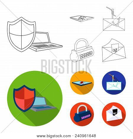 Hacker, System, Connection .hackers And Hacking Set Collection Icons In Outline, Flat Style Vector S