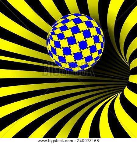 Spiral Vortex Vector. Illusion Vector. Optical Art. Psychedelic Swirl Illusion. Deception, Deceptive
