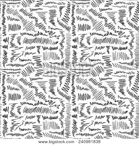 Seamless Scribble Background - Hand Drawn Doodle Vector.