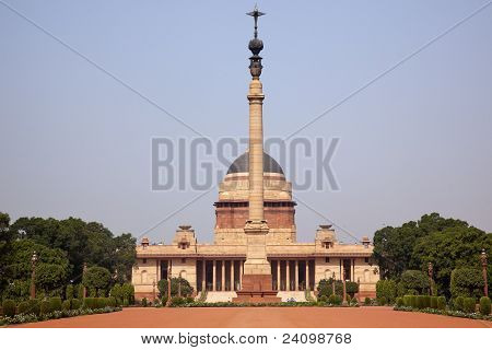 Rashtrapati Bhavan Official Residence President New Delhi India Designed by Edwin Lutyens and completed in 1931 poster