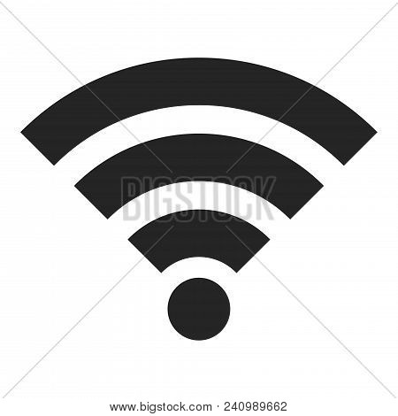 Wifi Signal Icon Isolated On White Background. Wifi Signal  Icon Modern Symbol For Graphic And Web D