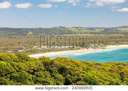 An Aerial View Of Byron Bay From Byron Bay Lighthouse In Byron Bay, New South Wales, Australia.