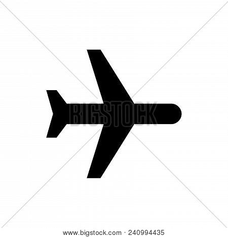 Plane Icon Vector In Modern Flat Style For Web, Graphic And Mobile Design. Plane Icon Vector Isolate