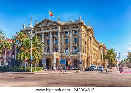 Barcelona - August 10: Building Of The Military Government (in Spanish: Gobierno Militar), Neoclassi