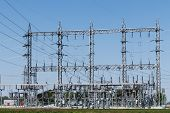 Dangerous High Voltage Electrical Power Substation IX poster