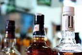 Whisky bottles at bar pub restaurant hotel poster